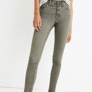 Madewell 9' High Rise Button Front Skinny Jeans